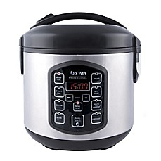 image of Aroma® Professional™ Cool Touch 8-Cup Rice Cooker in Stainless Steel