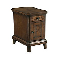 image of Broyhill Estes Park Chairside End Table in Brown Oak