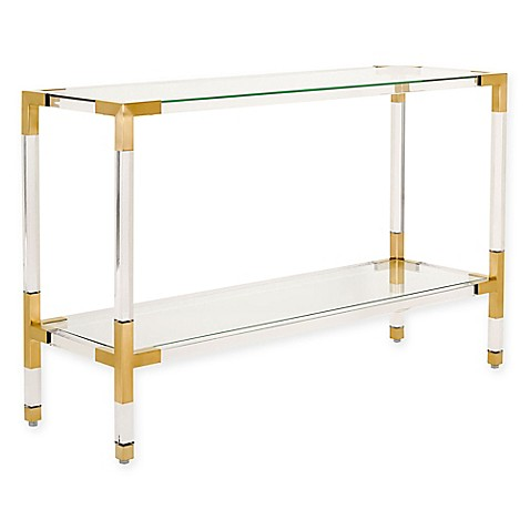 safavieh couture averne acrylic console table   bed bath