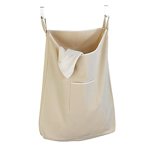 Over The Door Canvas Laundry Bag In Natural Bed Bath