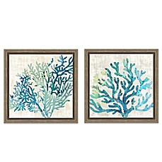 Image Of Sea Coral Framed Canvas Wall Art