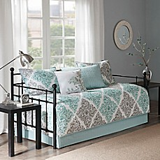 Image Of Madison Park Claire 6 Piece Daybed Set In Aqua