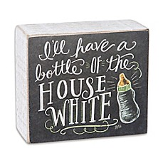 image of Primitives by Kathy House White Chalk Sign in Black/White