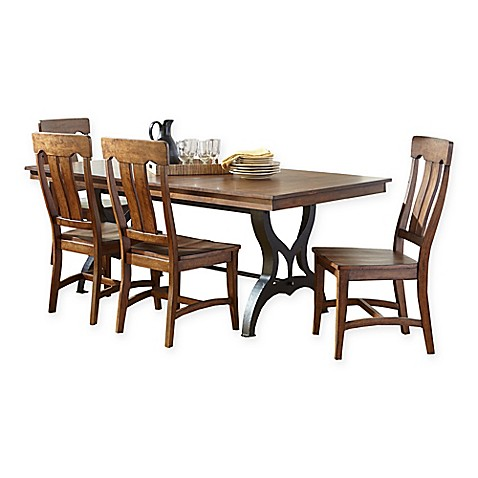 Intercon Furniture The District Collection 5 Piece Dining Set In Copper