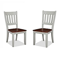 image of intercon furniture small space slat back side dining chairs in cherry set of