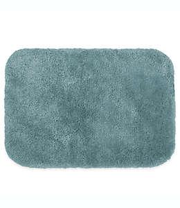 Tapete para baño de fibras sintéticas Wamsutta® Duet color azul mar