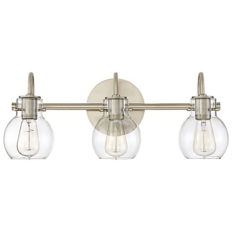 Buy Quoizel Andrews 3 Light Bath Fixture In Antique Nickel From Bed Bath Beyond