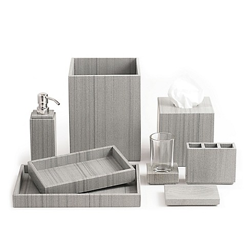 Image Of Capistrano Marble Bath Ensemble In Graphite Grey
