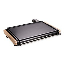 image of Lagrange® Plancha Electric Griddle in Black/Tan