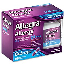 image of Allegra® Allergy 60-Count 24 Hour Relief Gelcaps