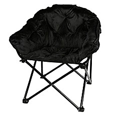 image of Folding Faux Fur Club Chair