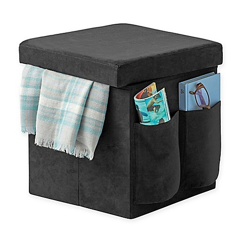 Sit Amp Store Folding Storage Ottoman Bed Bath Amp Beyond