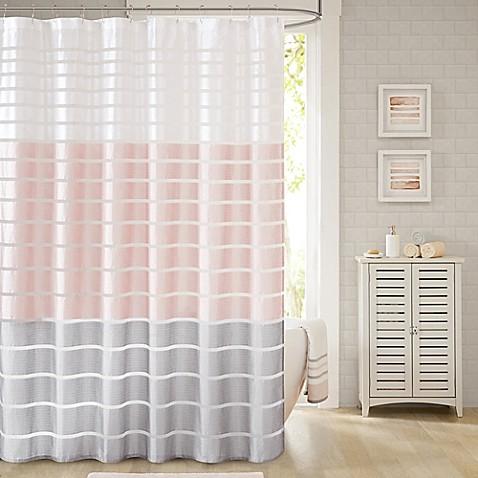 Demi Shower Curtain In Blush