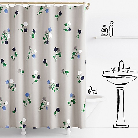 Kate spade new york willow court shower curtain bed bath for Bed bath and beyond kate spade