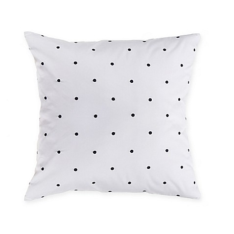 Throw Pillows One Kings Lane : kate spade new york Poppy Fields Bikini Dot 16-Inch Square Throw Pillow in Navy/White - Bed Bath ...