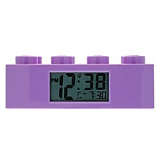 image of LEGO® Friends Brick Digital Alarm Clock in Purple