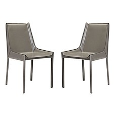 image of Zuo Modern Fashion Recycled Leather Dining Chairs (Set of 2)