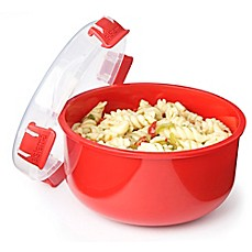 image of Sistema® 30.9 oz. Microwavable Round Bowl in Red