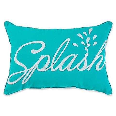 Splash Outdoor Oblong Throw Pillow in Aqua - Bed Bath & Beyond