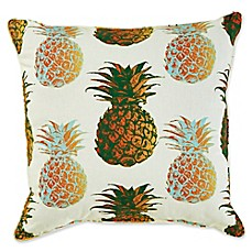 image of Pineapple 17-Inch Square Outdoor Throw Pillow