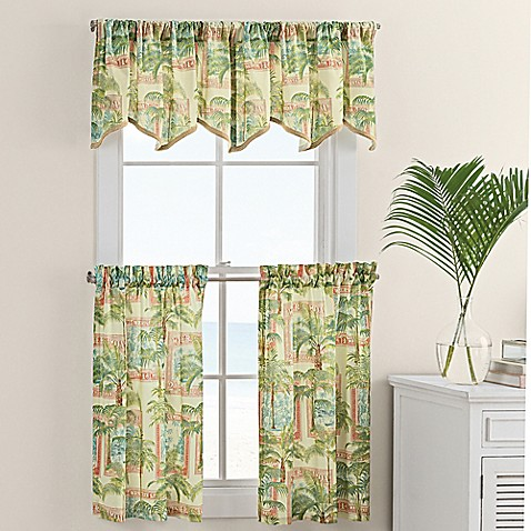 cayman window curtain tier and valance - bed bath & beyond