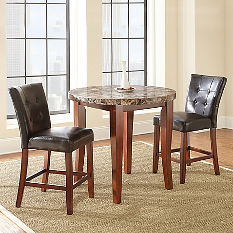 Steve Silver Montibello Counter Height Dining Set In Cherry