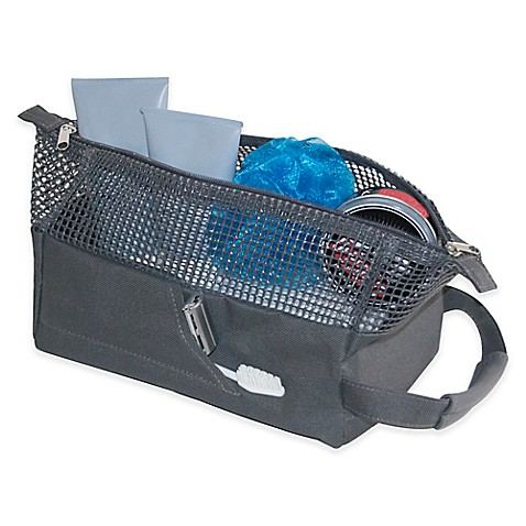 Mesh Shower Tote sport mesh shower tote in charcoal - bed bath & beyond
