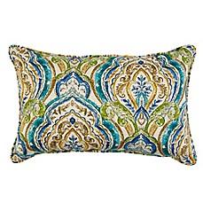 Image Of Indoor/Outdoor Throw Pillow In Avaco Blue