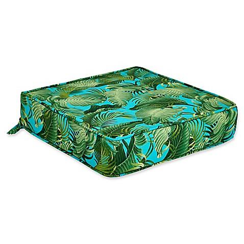 Outdoor Deep Seat Cushion In Back Bay Ocean Bed Bath