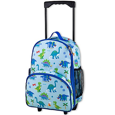 Olive Kids Dinosaur Land Rolling Luggage In Blue Buybuy Baby