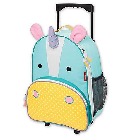Skip Hop 174 Zoo Little Kid Rolling Luggage In Unicorn Bed