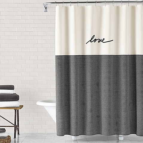 image of ed ellen degeneres love 72 inch x 72 inch shower curtain - Shower Curtain Design Ideas