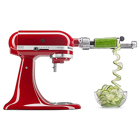 Kitchenaid 5 Blade Spiralizer With Peel Core And Slice Stand Mixer Attachment Bed Bath Beyond