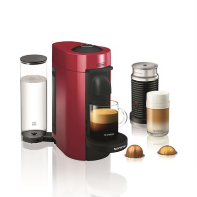 Nespresso by Delonghi VertuoPlus Coffee/Espresso Machine and Aeroccino3 Milk Frother Bundle ...