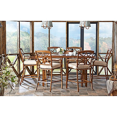 Trisha Yearwood Home Outdoor Dining Set Collection In Brown