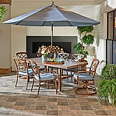 Image Of Trisha Yearwood Home Outdoor Dining Set Collection In Demo Denim