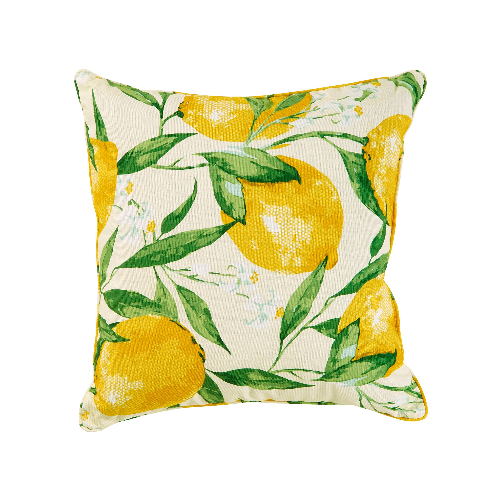 Lemon outdoor pillow