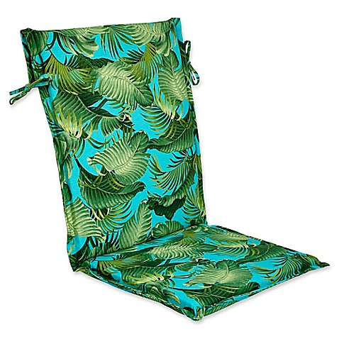 Outdoor Sling Back Chair Cushion In Back Bay Ocean Bed