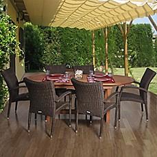 Amazonia Lemans 7 Piece Extendable Oval Patio Dining Set