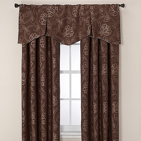 jacobean pleated window valance - bed bath & beyond