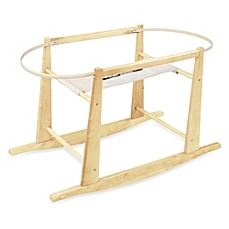 image of Jolly Jumper® Rocking Moses Basket Stand in Natural