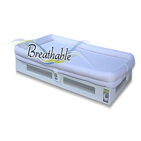 Secure beginnings mini breathable crib mattress in white for Breathable crib mattress
