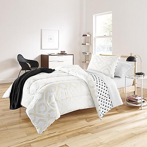beth 6 8 piece comforter set in gold bed bath beyond. Black Bedroom Furniture Sets. Home Design Ideas