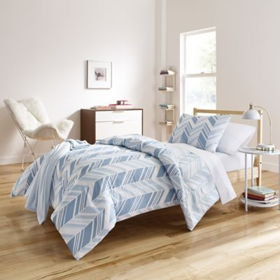 image of Elesa 6-8 Piece Comforter Set in Blue