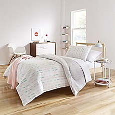 image of Melina Reversible Comforter Set in White/Grey