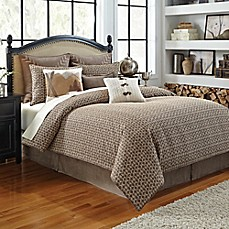 image of Croscill® Aspen Comforter Set in Taupe