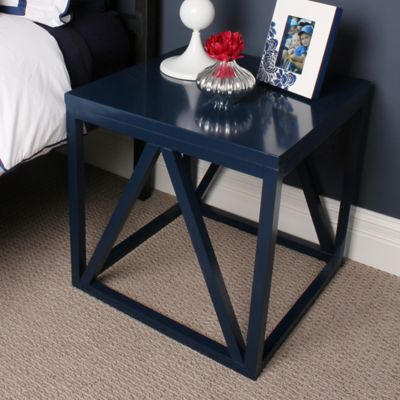 image of Kate And Laurel Kaya Side Table in Navy