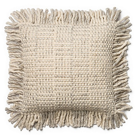 Magnolia Home Bernice 22-Inch x 22-Inch Accent Pillow in Grey/Ivory