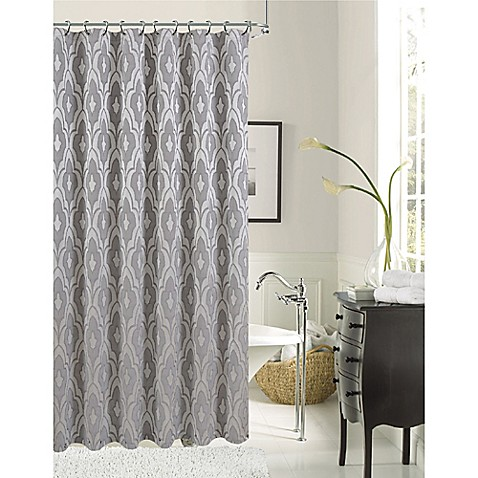 Buy Gramercy Park Shower Curtain In Silver From Bed Bath