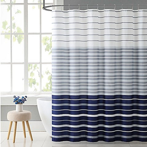 VCNY Home Preston Shower Curtain In Navy White Bed Bath Beyond